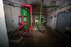 Depósito do partido comunista e abrigo nucleares secretos - tubulações Fotos de Stock Royalty Free