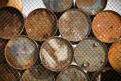 Depósito do petróleo e do produto químico e tanques de armazenamento Imagens de Stock