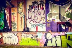 Depósito dos grafittis Fotos de Stock
