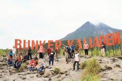 Depósito Kalidem sob o vulcão de Merapi imagem de stock royalty free