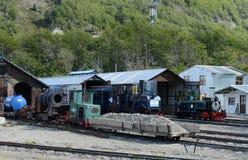 Depósito locomotivo na estrada de ferro pacífica do sul no mundo Imagens de Stock Royalty Free