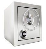 Depósito seguro de la cámara acorazada de los ahorros del dinero de la batería Fotos de archivo libres de regalías