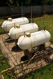Depósitos de gas Imágenes de archivo libres de regalías