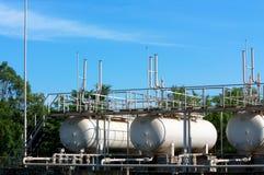 Depósitos de gas Fotografía de archivo