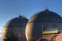 Depósitos de gas Foto de archivo