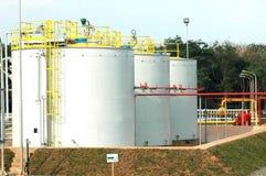 Depósitos de gas Imagen de archivo