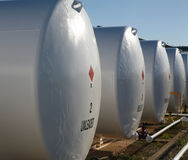 Depósitos de gasolina Foto de archivo