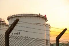 Depósitos de gasolina Imagem de Stock