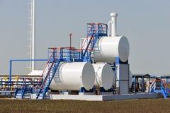 Depósitos de gasolina Imagen de archivo libre de regalías
