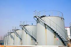 Depósitos de gasolina do gás e do diesel Fotografia de Stock