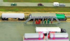 Depósitos de gasolina en la estación de petróleo Fotografía de archivo libre de regalías