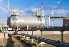 Depósitos de gasolina para a caldeira-casa no local industrial Imagem de Stock Royalty Free
