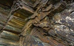 Depósitos del mineral de hierro Imágenes de archivo libres de regalías