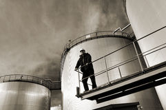 Depósitos e ingeniero de gasolina Imagen de archivo