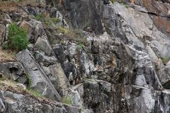 Depósitos minerais do Pegmatite em Ucrânia imagens de stock