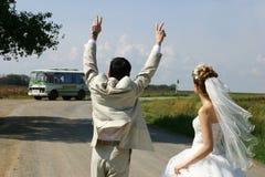 Depart dans la vie apres le mariage Royalty Free Stock Photo