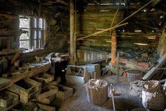 Departamento abandonado viejo de los herreros Fotografía de archivo
