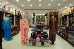 Departamento con los productos árabes tradicionales Foto de archivo libre de regalías