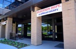 Departamento da eleição de Flathead County Fotografia de Stock