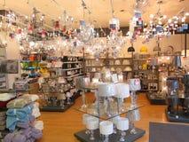 Departamento da iluminação em uma loja. Fotos de Stock