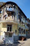 Departamento da polícia arruinado de Mariupol Fotos de Stock