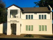 Departamento da polícia de Port Royal, Port Royal, South Carolina fotos de stock