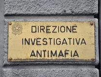 Departamento da polícia que investiga o crime organizado Foto de Stock