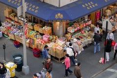 Departamento de alimento asiático en Chinatown Foto de archivo libre de regalías
