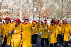 Departamento de bomberos del payaso Imagen de archivo libre de regalías