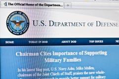 Departamento de Defensa Foto de archivo libre de regalías