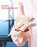 Departamento de dinheiro Fotografia de Stock