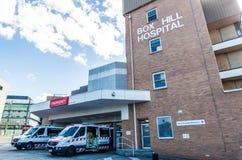 Departamento de emergencia en el hospital de la colina de la caja Imágenes de archivo libres de regalías