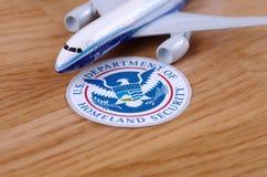 Departamento de Estados Unidos de seguridad de patria Imágenes de archivo libres de regalías