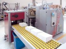 Departamento de impresión (impresión) de la prensa - línea de acabamiento Fotos de archivo libres de regalías