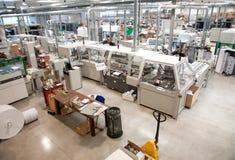 Departamento de impresión (impresión) de la prensa - línea de acabamiento Fotografía de archivo libre de regalías