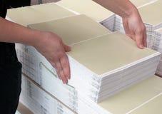 Departamento de impresión - línea de acabamiento Fotos de archivo libres de regalías
