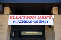 Departamento de la elección del condado de Flathead Foto de archivo libre de regalías