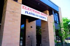 Departamento de la elección del condado de Flathead Imagen de archivo
