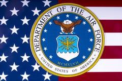 Departamento de la fuerza aérea y de la bandera de los E.E.U.U. Imagenes de archivo
