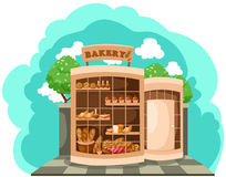 Departamento de la panadería stock de ilustración