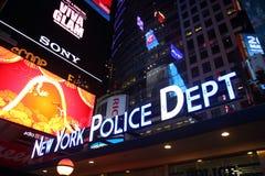 Departamento de Policía de Nueva York, Times Square, Manhatta Imagen de archivo