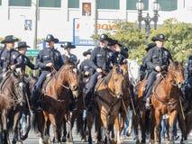 Departamento de Policía de Los Ángeles en Rose Parade famosa Foto de archivo libre de regalías
