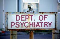 Departamento de psiquiatría Imagen de archivo libre de regalías