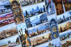 Departamento de recuerdo en Praga imagenes de archivo
