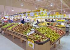Departamento de tienda de comestibles Foto de archivo libre de regalías