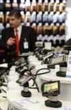 Departamento de ventas de la navegación del GPS en un supermercado foto de archivo