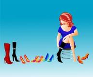 Departamento de zapato Ilustración del Vector