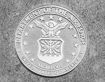 Departamento del sello de la piedra de los E.E.U.U. de la fuerza aérea Imágenes de archivo libres de regalías