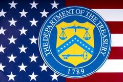 Departamento del Tesoro de Estados Unidos imagen de archivo