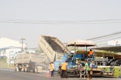 Departamento do asfalto das estradas na estrada em Chanthaburi Tailândia Foto de Stock